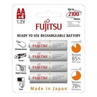 Harga Fujitsu 4pcs AA 2000mAh NiMH 2100 Cycle Rechargeable Battery