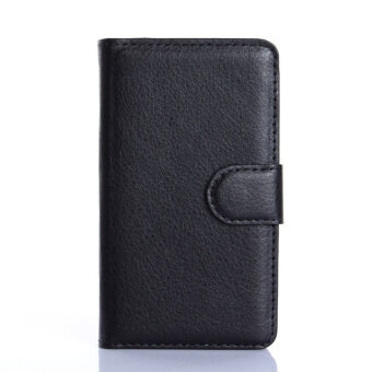 Harga Wallet Flip Leather Case with Card Bag Holder for Samsung Galaxy Ace Plus (S7500) Black