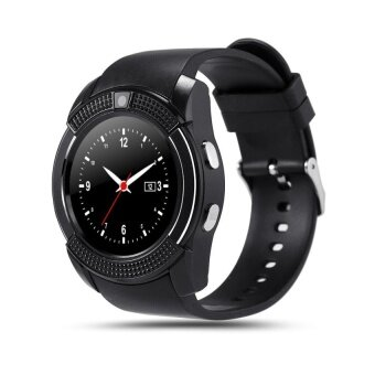 Harga V8 1.22 Inch Smart Watch Android Phone MTK6261D - Black