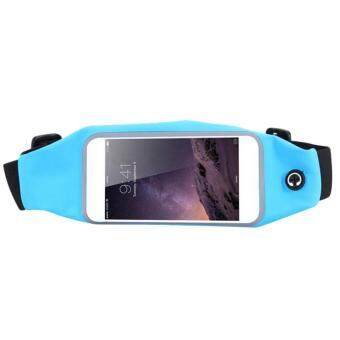 "Harga LYBALL Universal Waterproof 5.5"" inch Sports Running Jogging Gym Waist Pocket Belt Case Armband Bag Holder for iPhone 5 6 7 6 7 plus Smart Phone 5.5 Inches"