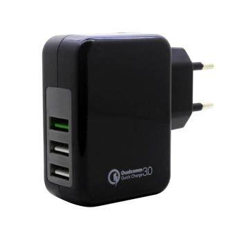 Harga EU Plug 23W Qualcomm QC 3.0 3Quick Charger USB 5V And 9V 12V 4A