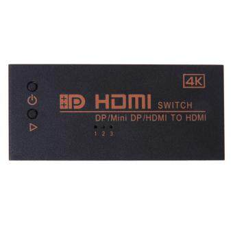 Harga 3 in 1 Dual HDMIMini DP Displayport in to 4K*2K HDMI out Switcher