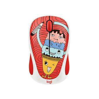 Harga LOGITECH DOODLE COLLECTION M238 WIRELESS MOUSE -TRIPLE SCOOP FREE:15 STICKER INSIDE