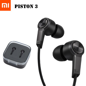 Harga (IMPORT OEM) Xiaomi Piston 3 Headset Bass Earphones Sport Mic MP3 Black Edition (Black)
