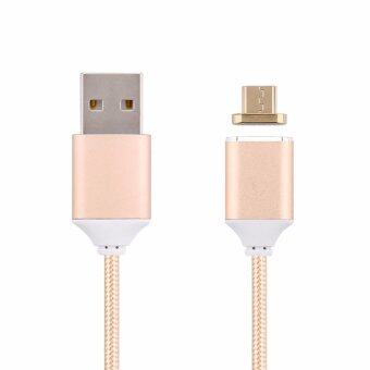 Harga Fast Charging LYBALL Magnet Cord Lightning Braided Aluminum Cables Micro USB to USB Sync Data Charging Cable for Android Samsung HTC Sony 2.4A