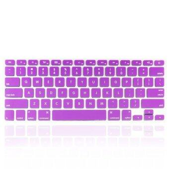 Harga Welink Fashion Silicone US Keyboard Cover Waterproof Keyboard Protector Skin For Apple Macbook Air 13 Inch Macbook Pro 13 Inch 15 Inch And Imac (Purple)