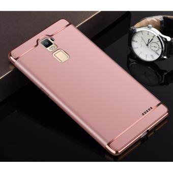 Harga Hybrid 3 In 1 Hard PC Frosted Matte Back Cover Case With Electroplated Frame For OPPO R7 Plus(Rose Gold)