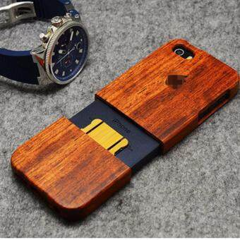 Harga LYBALL 100% Natural Wooden Wood Bamboo Phone Case Cover For Apple iPhone 6 6s Logo