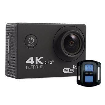 Harga Action Camera F60R 4K Wifi Action Camera Sport with remote - Black