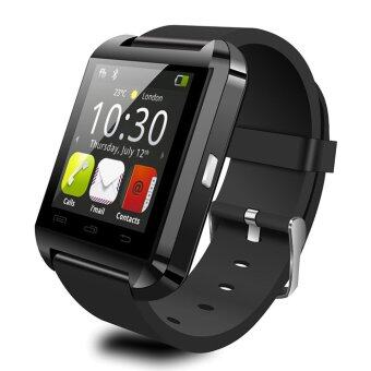 Harga UWATCH U8 Bluetooth Android Smart Mobile Phone Wrist Watch(Black) -