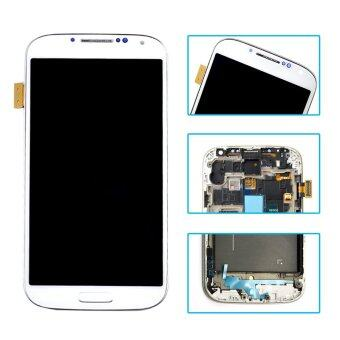 Harga Original For Samsung Galaxy S4 I9500 LCD Display+Touch Screen Digitizer Assembly With Frame White Color