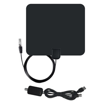 Harga 50 Miles Range IEC Male Connector Ultra-thin Digital Indoor TV HDTV Antenna with High Signal Capture of Coaxial Cable Signal Amplifier