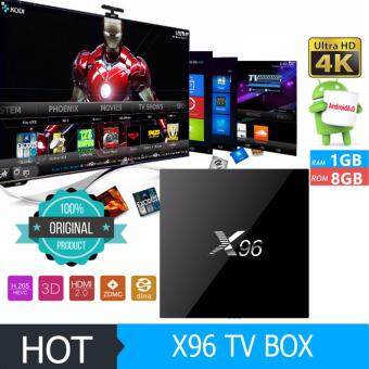 Harga Original X96 Smart TV Box 1G/8G Amlogic S905X Quad Core Android 6.0 4K KODI 16.1 IPTV Streaming Media Players