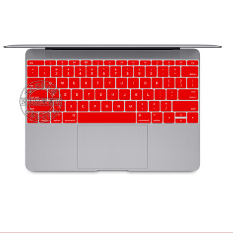 "Harga US type Laptop Silicone Protective Keyboard Cover Skin Protection Sticker for 12"" inch Mac MacBook (Red)"