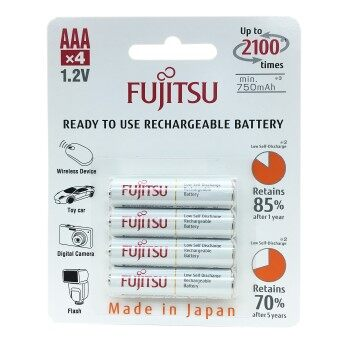 Harga Fujitsu Rechargeable AAA Ready to use Battery 800mah (2100 Cycle) 4pcs Pack HR-4UTCEX(4B)