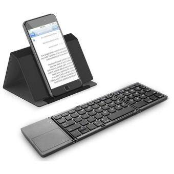 0449dba3249 Intelligent Portable Folded Bluetooth Keyboard With Touchpad Mini Wireless  Folding Keyboard for iPhone iPad iPod Smartphone