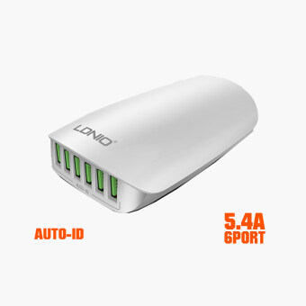 Harga LDNIO A6573 Quick Charge 6 USB Port Smart Fast Home Office ForiPhone 7 Plus Samsung Xiaomi Tablet PC Wall Charger EU/US/UK/AU