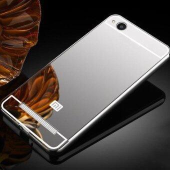 Luxury Plating Mirror Case Aluminum Metal Bumper + Acrylic HardBack Cover for Xiaomi Redmi 4A