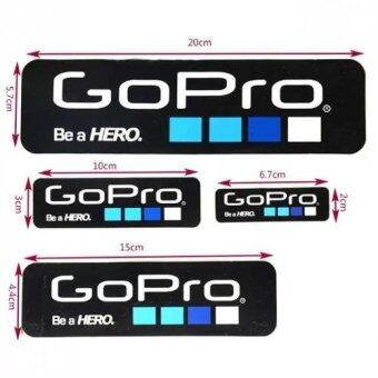 MADPRO Gopro Be a Hero design Sticker set 4 size - BlackColour