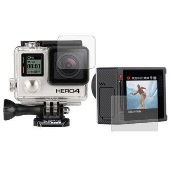 MADPRO Ultra Clear LCD Screen Protector + Housing Glass LensProtector Film for GoPro HERO4 Silver Camera