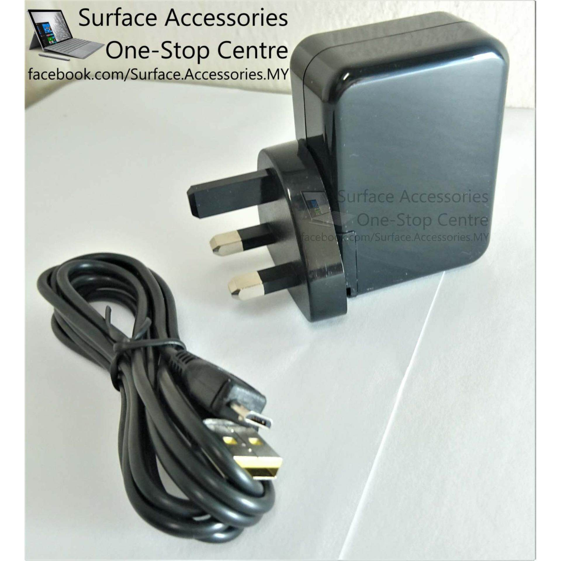 [MALAYSIA] Surface 3 Charger with Quality High Gauge Micro-USB Charger Cable Charger Microsoft Surface 3 Charger 5.2V 2.5A