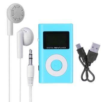 Mini USB MP3 Music Media Player LCD Screen Support 32GB Micro SD TF Card Slot Blue