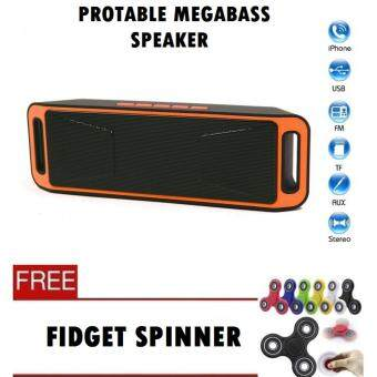 Harga NEW MegaBass Speaker Protable Music - Microphone, Bluetooth,Hands-free Calls, Volume Contro, Subwoofer, Double speakers (ReadyStock) Fast Delivery!!