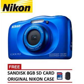 Nikon CoolPix W100 Digital Camera – Blue (Nikon Malaysia Warranty)
