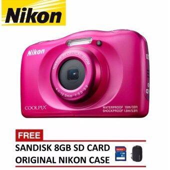Nikon CoolPix W100 Digital Camera – Pink (Nikon Malaysia Warranty)