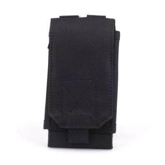 Nylon Outdoors Military Mobile Phone Cover Bag (Black)