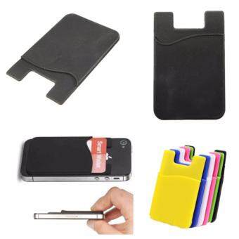 Portable Silicone Credit Card/ID Wallet Sleeve Adhesive Phones Holder ID Card Holder Stick-