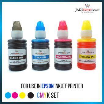 Refill Ink (CYMK Set - 100ml) For Epson Inkjet Printer For CISS Refill Dye