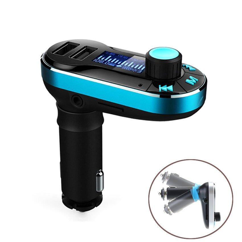 Remote Car Kit MP3 Player Wireless FM Transmitter Radio Modulator (Blue)
