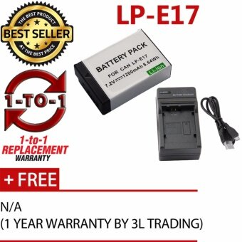 Harga (REPLACEMENT) LP-E17 Battery for Canon EOS M6 M5 M3 800D 760D 750D77D