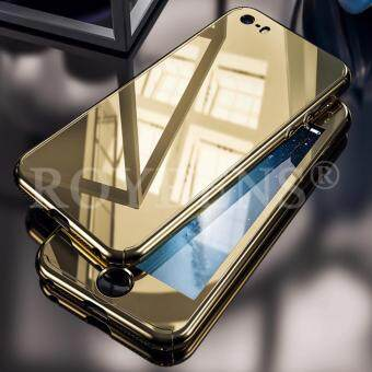 Roybens 360? Full Hybrid Acrylic Hard Mirror Case Cover + Tempered Glass For iPhone 5