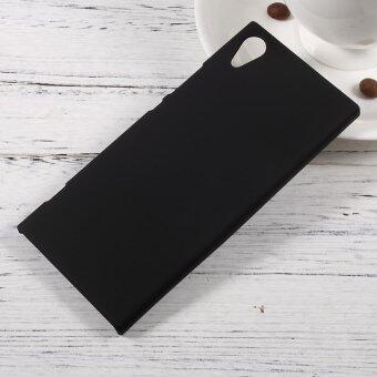 Rubberized Hard Plastic Case for Sony Xperia XA1 - Black