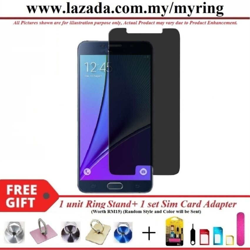 For Samsung Galaxy A5 2016 A510F Privacy Tempered Glass