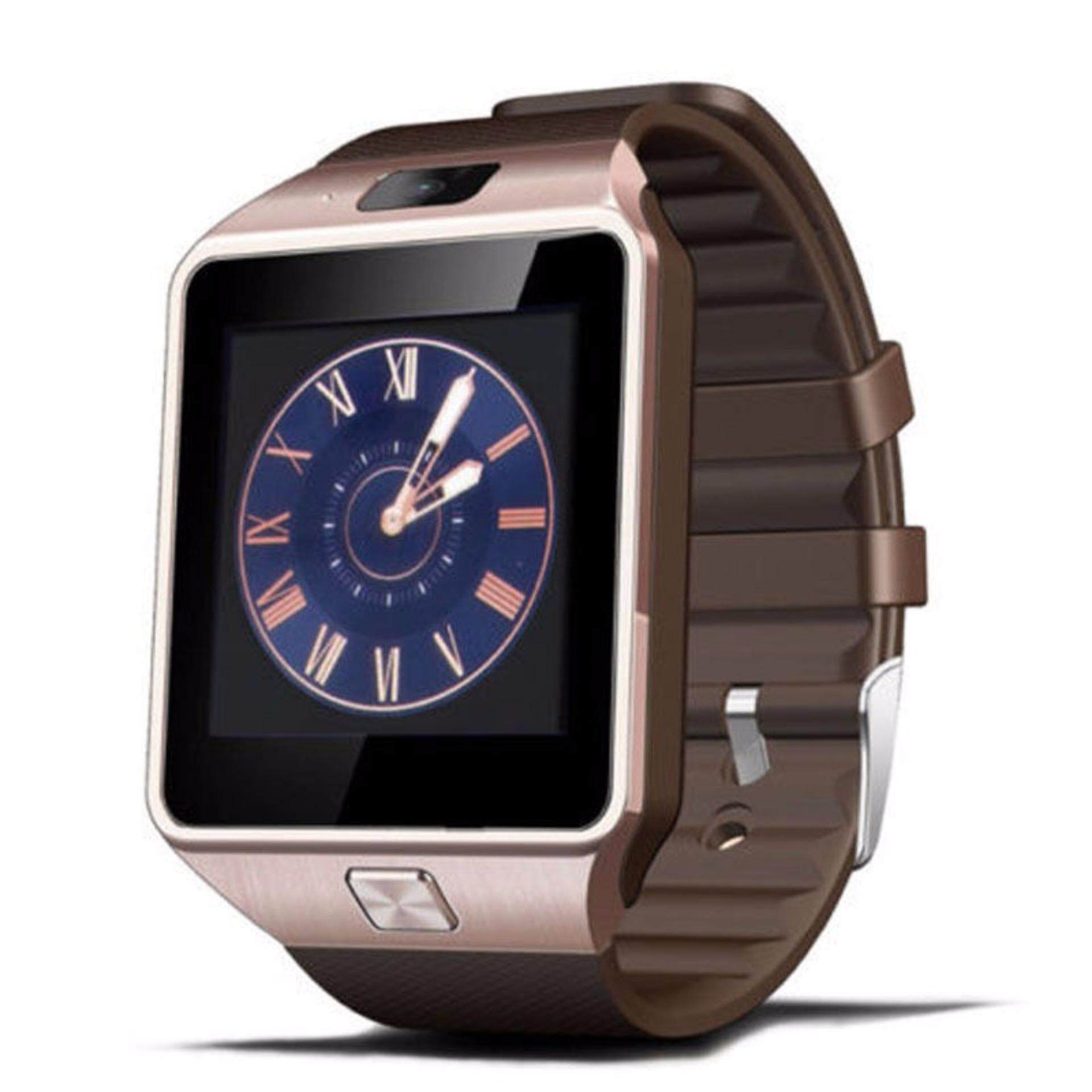 Smart Watch DZ09 with Bluetooth Support SIM Card Connectivity iPhone Android Phone (Gold) **FREE Screen Protector & Battery**