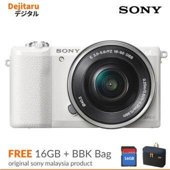 Sony A5100 Mirrorless Camera 24.3MP With 16-50mm Lens + 16GB + BBK Bag
