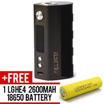Harga Super Fast Marketing - Callisto 80w Mod (Gun Metal) Mod For VapeAnd Electronic Cigarettes + 1 LGHE4 YELLOW BATTERY