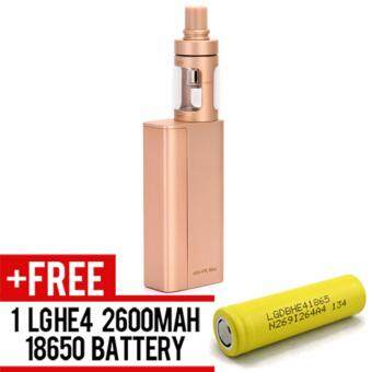 Harga Super Fast Marketing - Evic Vtc Mini Cubis (GOLD) Mod For Vape AndElectronic Cigarettes + 1 LGHE4 YELLOW BATTERY