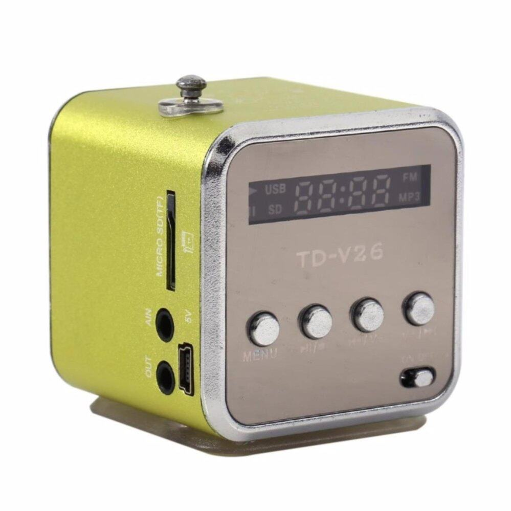 TD-V26 Radio FM Music Box With Mp3 Player Functions. Micro SD, USB, Speaker (Green)