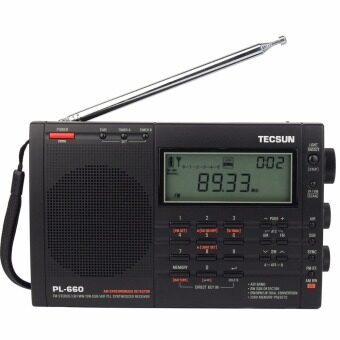 Tecsun PL660 FM Radio PLL SSB VHF Air Band Radio FM Stereo/MW/SW/LW Dual Conversion Receiver Portable Radio