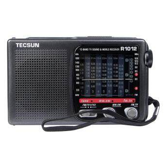 Tecsun R-1012 Radio FM / MW / SW / TV World Band Radio Receiver 76-108MHz Radio Recorder
