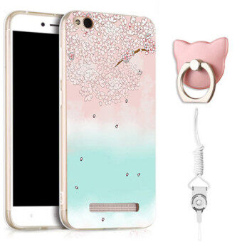 TPU Soft Phone Case for Xiaomi Redmi 5A with a Ring and a Rope (Multicolor