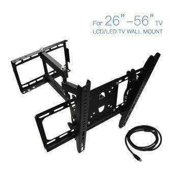 "Harga Two Sides Arms Full Motion Swivel LED LCD Ultra HD TV Wall MountBracket 26""~56"""
