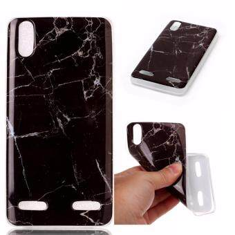 Ultrathin Marble Texture Pattern Painted Soft TPU Silicone Phone Case For Lenovo A6000 (Black)