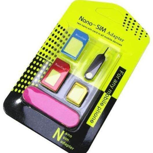 Universal Nano Sim Adapter - Dual Sim Dual Standby Adapter 5 In 1 Nano Sim Adapter Kit