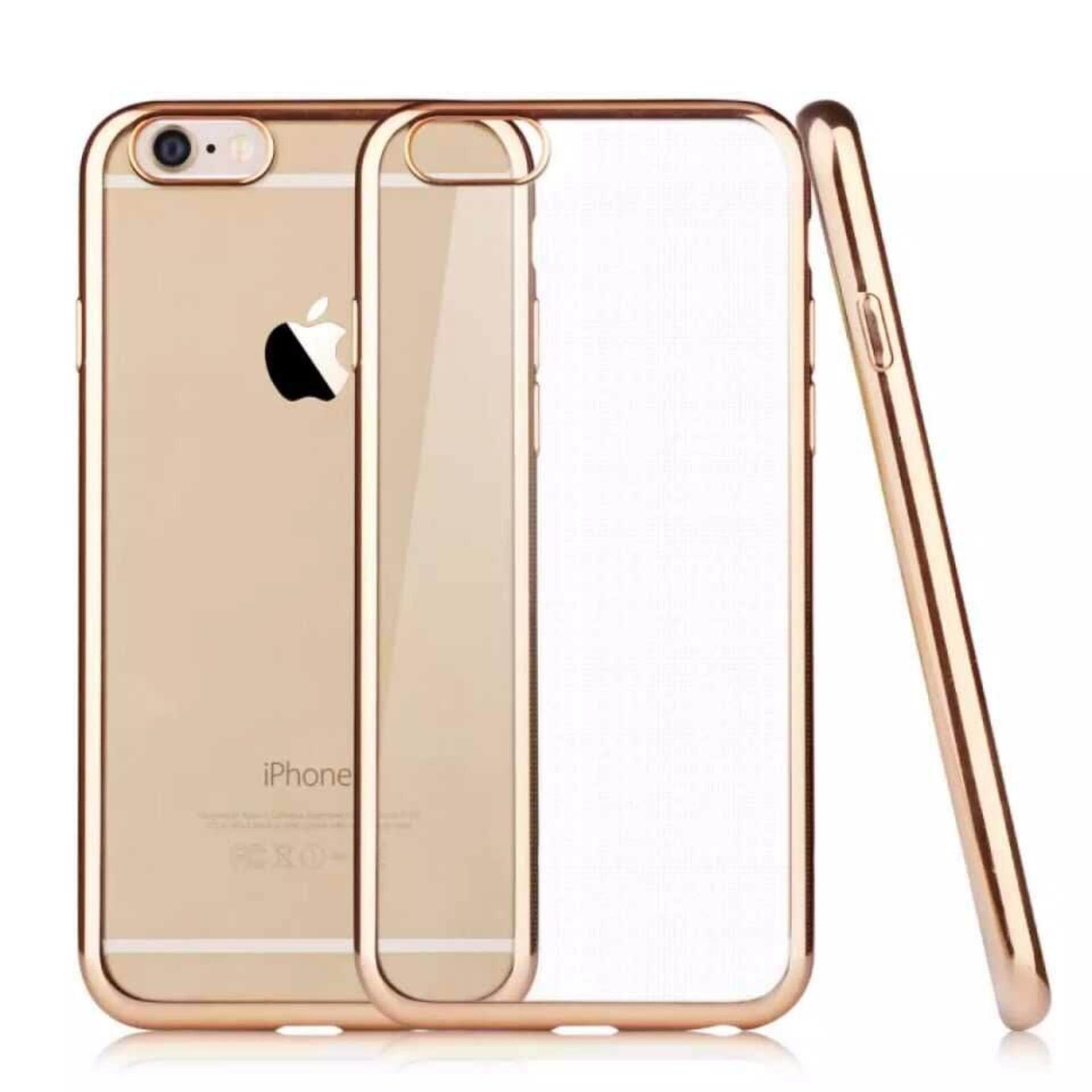 ViLi Apple iPhone 6 Plus 6s Plus TPU Silicone Ultrathin Luxury Slim Electroplating Crystal Clear Transparent Soft Back Cover Case Covers (Luxury Gold) FREE 2 Screen Protector