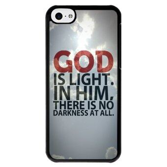 Y&M God Is Light Phone Case for iPhone 5C (Multicolor)